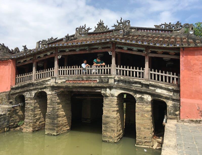 Ιαπωνική γέφυρα σε Hoi, Βιετνάμ στοκ εικόνες