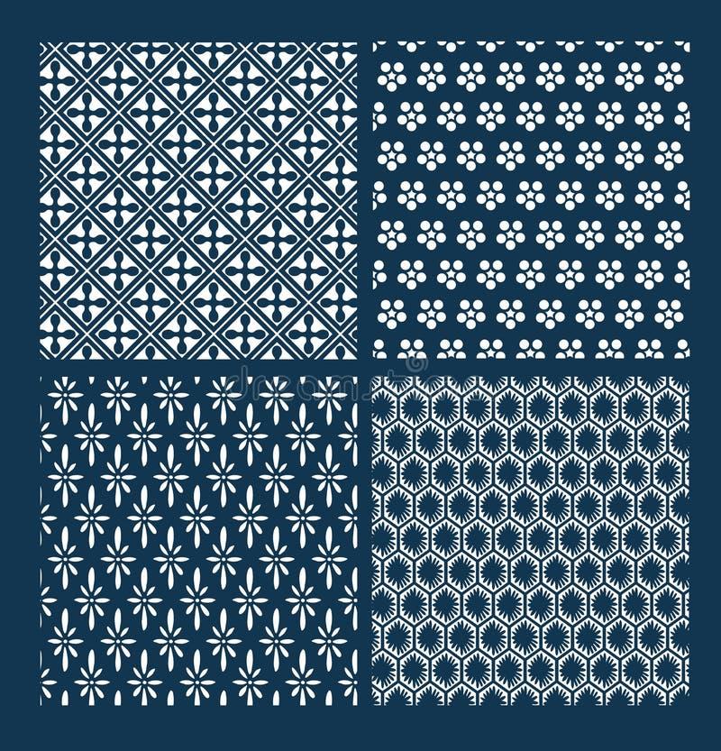 Ιαπωνική διανυσματική καθορισμένη γεωμετρία παραδοσιακός Ασιάτης σχεδίων στοκ φωτογραφία με δικαίωμα ελεύθερης χρήσης
