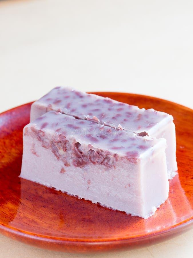 Ιαπωνική κουζίνα, γλυκές κόκκινες φασόλια και ζελατίνα αγάρ γάλακτος στοκ εικόνες με δικαίωμα ελεύθερης χρήσης