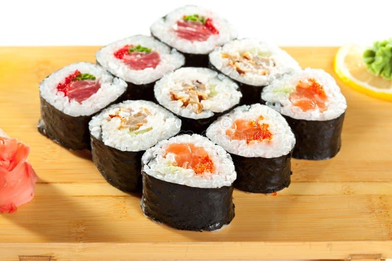 Ιαπωνική κουζίνα - σούσια στοκ φωτογραφία με δικαίωμα ελεύθερης χρήσης