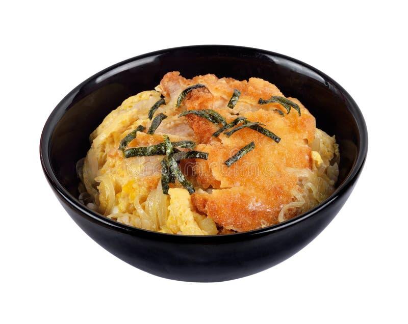 Ιαπωνική κουζίνα, Katsudon στοκ φωτογραφίες