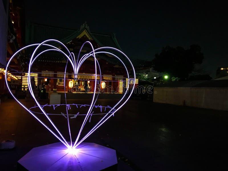 Ιαπωνική κρυμμένη καρδιά αγάπης στοκ φωτογραφίες με δικαίωμα ελεύθερης χρήσης