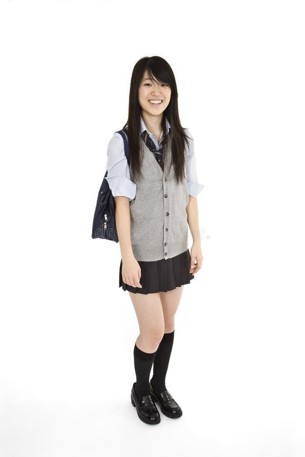 ιαπωνική μαθήτρια στοκ εικόνα με δικαίωμα ελεύθερης χρήσης