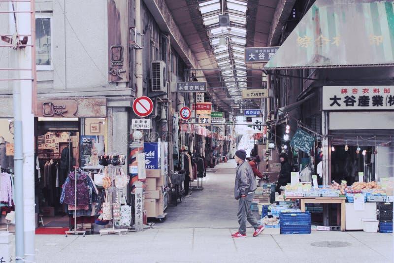 Ιαπωνική οδός σε Onomichi στοκ φωτογραφία με δικαίωμα ελεύθερης χρήσης