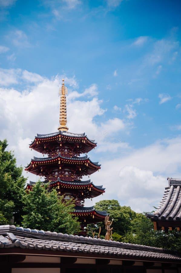 Ιαπωνική παγόδα πέντε ορόφων του ναού Kawasaki Daishi, Kawasaki, στοκ φωτογραφίες με δικαίωμα ελεύθερης χρήσης