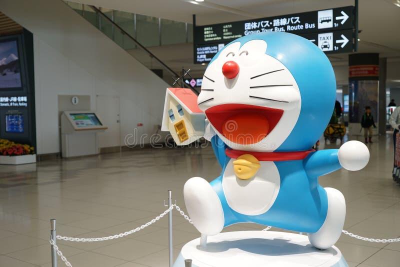 Ιαπωνική τέχνη κινούμενων σχεδίων - Doraemon στοκ φωτογραφία