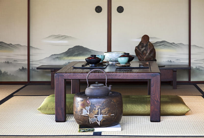 Ιαπωνική τραπεζαρία στοκ φωτογραφία με δικαίωμα ελεύθερης χρήσης