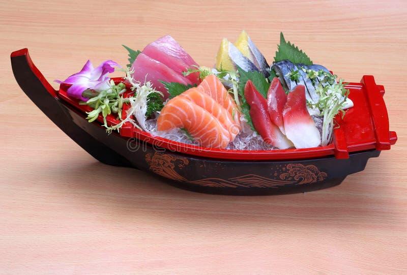 Ιαπωνική τροφίμων σουσιών φωτογραφία σχεδίου βαρκών καθορισμένη στοκ φωτογραφίες με δικαίωμα ελεύθερης χρήσης