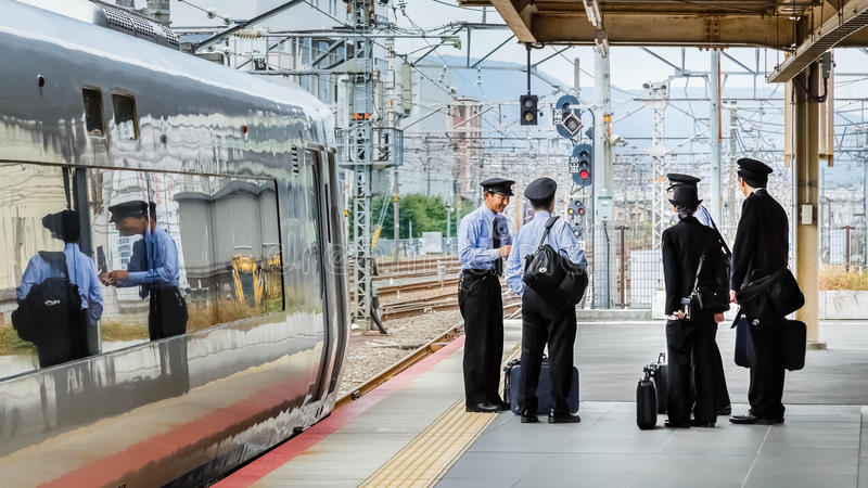 Ιαπωνικοί αγωγοί τραίνων στοκ εικόνες