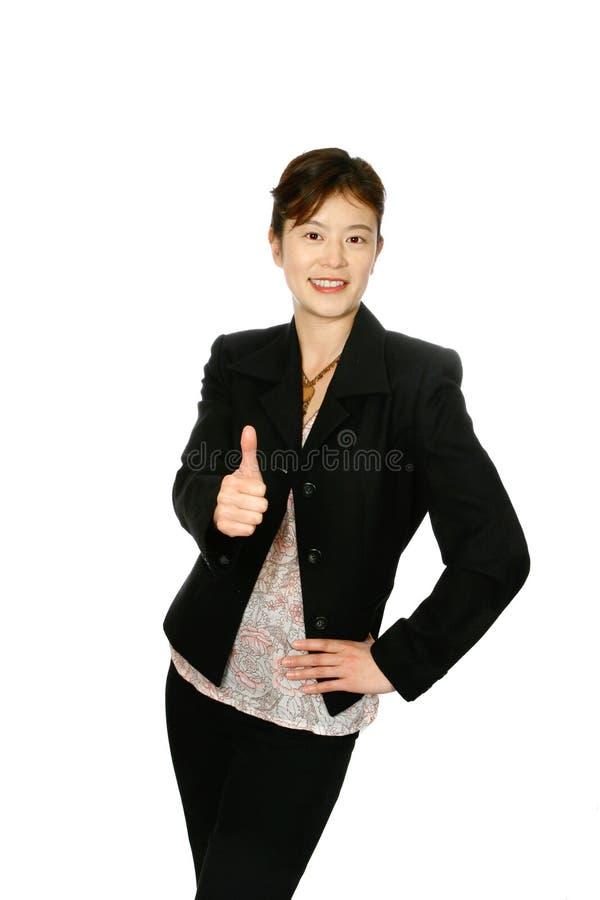 ιαπωνικός αντίχειρας businesswoma &epsilon στοκ εικόνες
