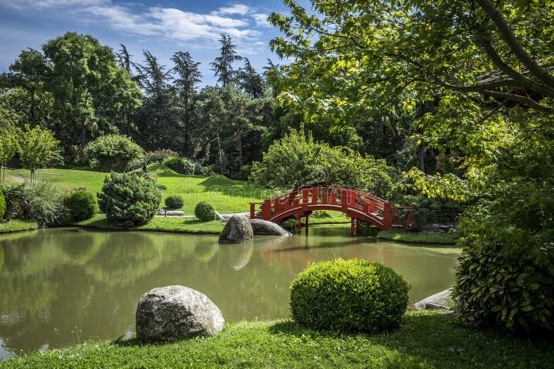 Ιαπωνικός δημόσιος κήπος στην Τουλούζη στη Γαλλία στοκ εικόνα