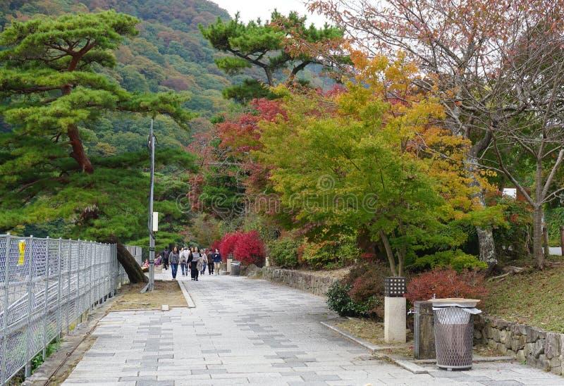 Ιαπωνικός κήπος το φθινόπωρο, Νάρα στοκ φωτογραφία με δικαίωμα ελεύθερης χρήσης