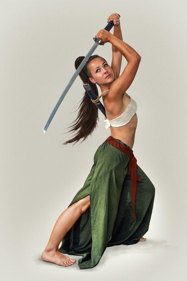 Ιαπωνικός πολεμιστής κοριτσιών στοκ εικόνα
