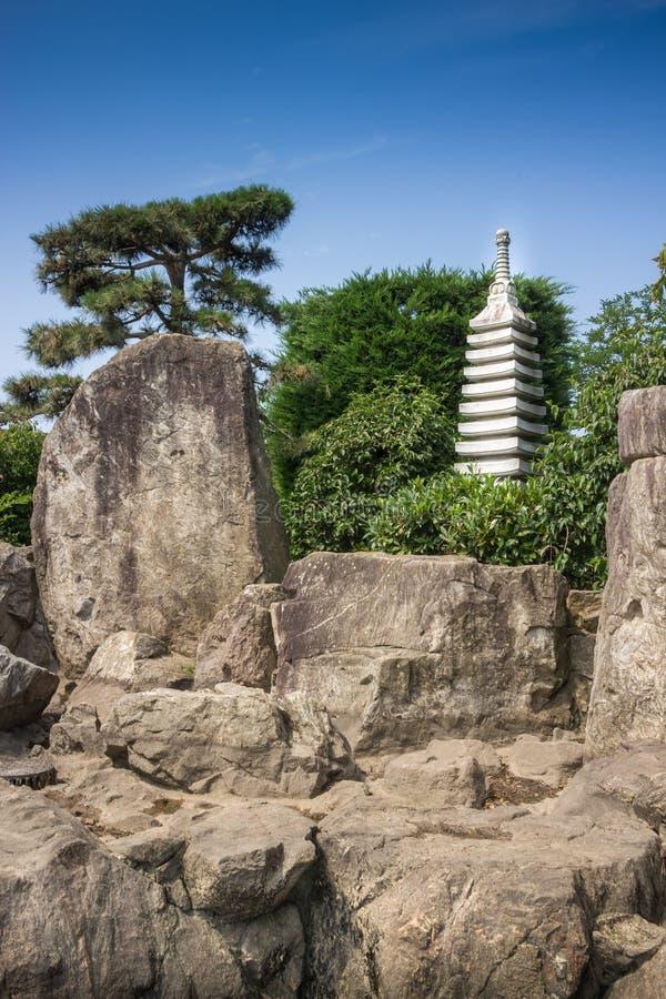 ιαπωνικό γλυπτό κήπων στοκ φωτογραφίες με δικαίωμα ελεύθερης χρήσης