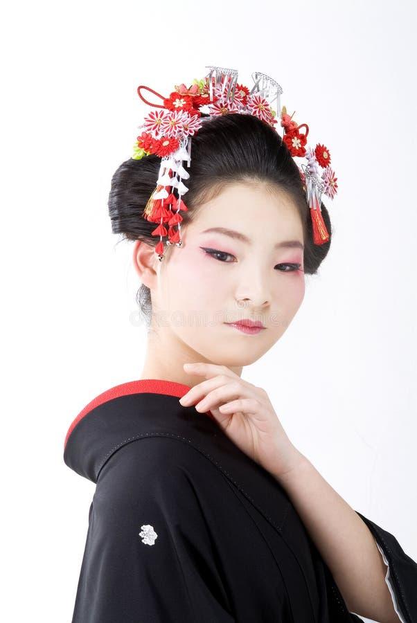 ιαπωνικό κιμονό κοριτσιών στοκ φωτογραφία με δικαίωμα ελεύθερης χρήσης