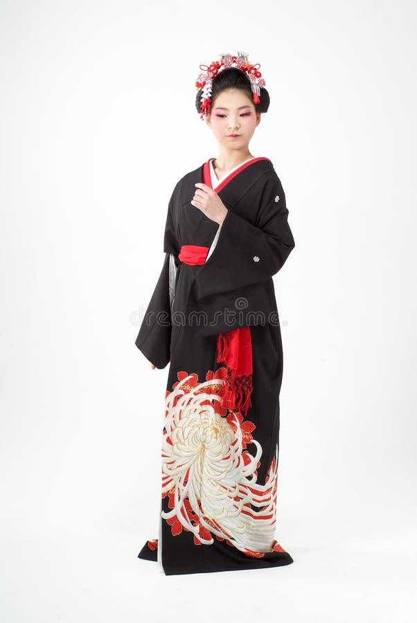 ιαπωνικό κιμονό κοριτσιών στοκ εικόνες με δικαίωμα ελεύθερης χρήσης