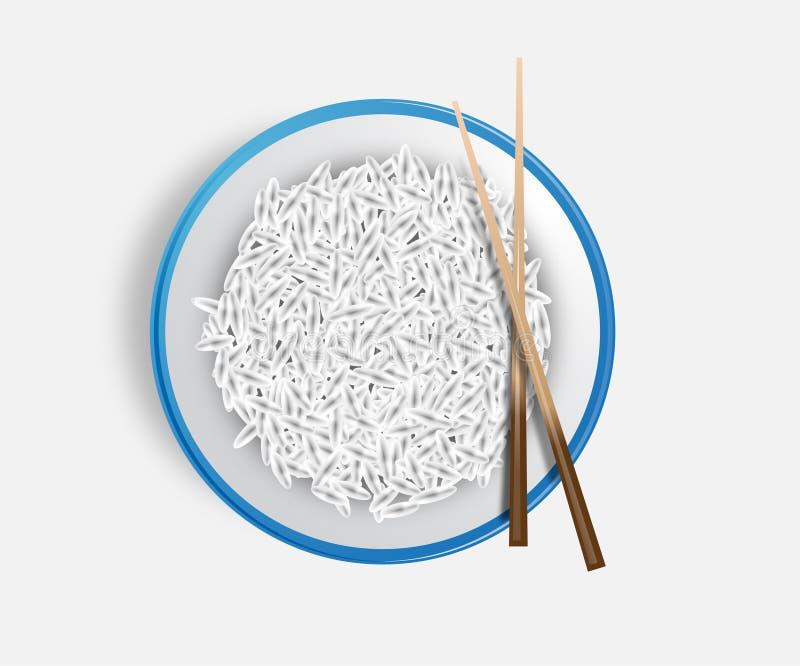 ιαπωνικό ρύζι πιάτων πιάτων
