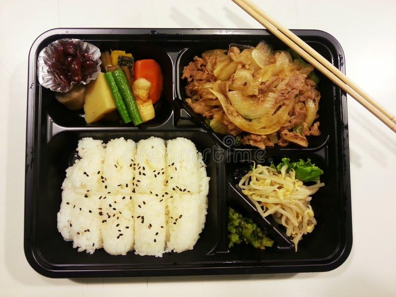 Ιαπωνικό σύνολο bento, ιαπωνικά τρόφιμα, Ιαπωνία στοκ εικόνες