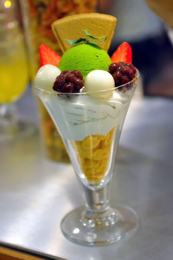 ιαπωνικό τσάι πάγου κρέμας &pi στοκ φωτογραφίες με δικαίωμα ελεύθερης χρήσης