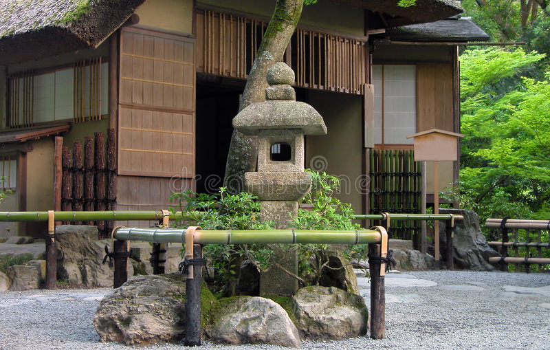 ιαπωνικό τσάι σπιτιών στοκ φωτογραφίες