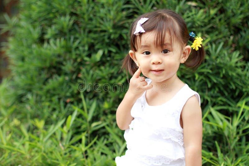 ιαπωνικό χαμόγελο κοριτσιών στοκ εικόνα με δικαίωμα ελεύθερης χρήσης