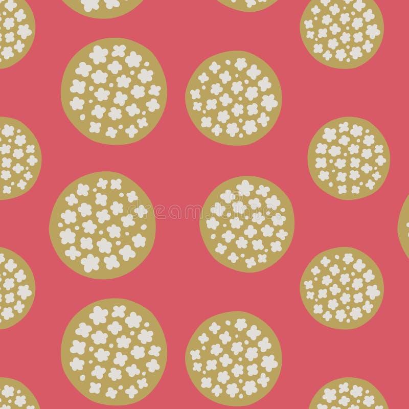 Ιαπωνικό χρυσό σχέδιο σφαιρών ανθών κερασιών διανυσματική απεικόνιση