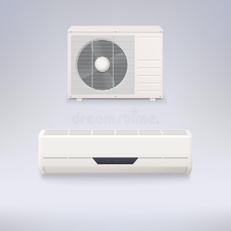 διασπασμένο σύστημα απεικόνισης κλιματιστικών μηχανημάτων διανυσματική απεικόνιση