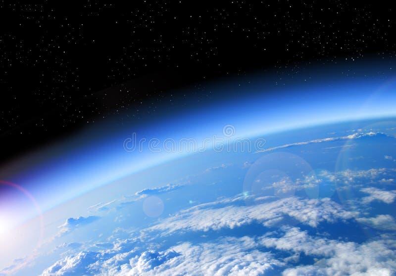 διαστημική διανυσματική όψη γήινης απεικόνισης στοκ φωτογραφία με δικαίωμα ελεύθερης χρήσης