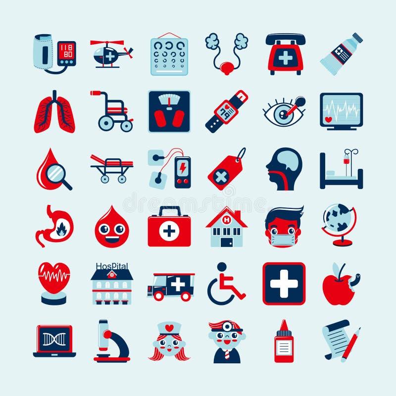 Ιατρικά εικονίδια καθορισμένα, ελεύθερη απεικόνιση δικαιώματος