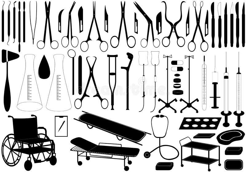 Ιατρικά εργαλεία ελεύθερη απεικόνιση δικαιώματος