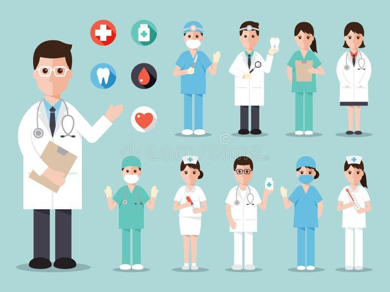 Ιατρικά και εικονίδια νοσοκομείων ελεύθερη απεικόνιση δικαιώματος