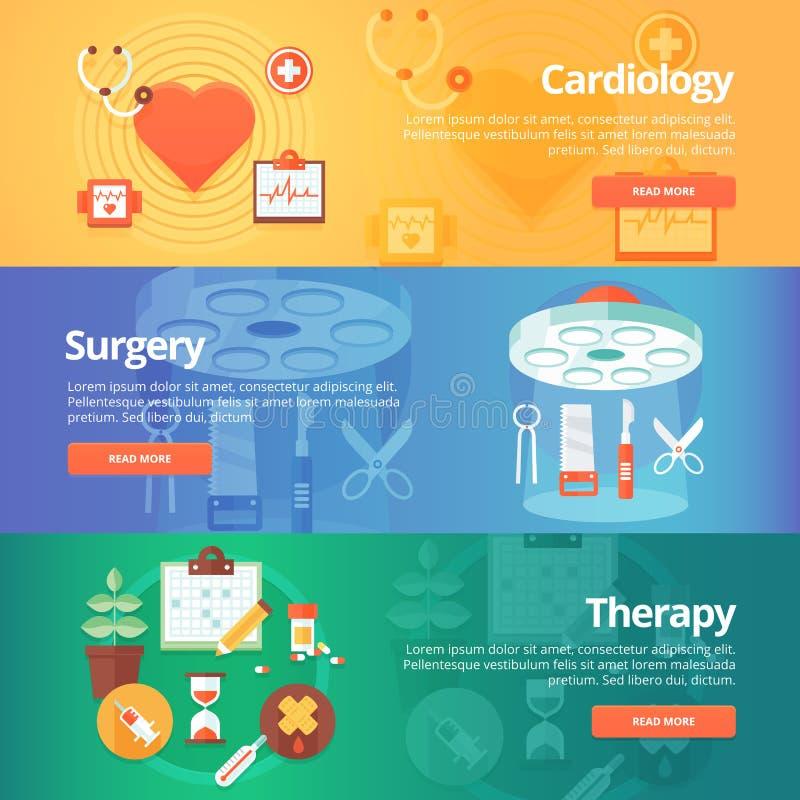 Ιατρικά και εμβλήματα υγείας καθορισμένα Καρδιολογία επεξεργασίας καρδιών απεικόνιση αποθεμάτων