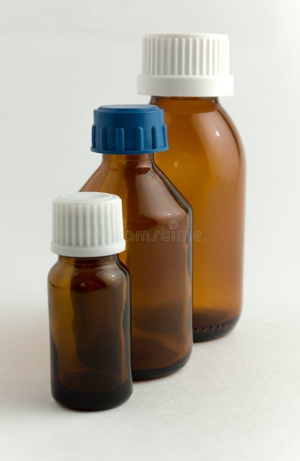 Ιατρικά μπουκάλια στοκ εικόνα με δικαίωμα ελεύθερης χρήσης