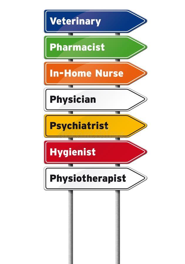 Ιατρικά σημάδια επαγγελμάτων στοκ φωτογραφία με δικαίωμα ελεύθερης χρήσης