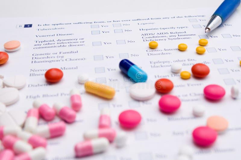 ιατρικά χάπια μορφής στοκ φωτογραφίες με δικαίωμα ελεύθερης χρήσης