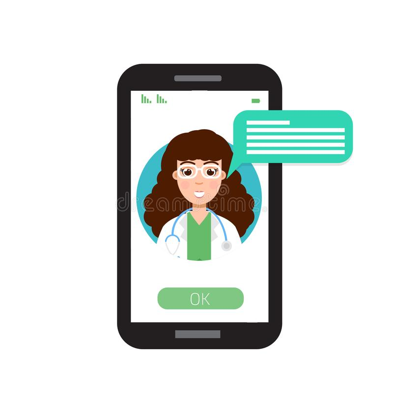 Ιατρικές διαβουλεύσεις γιατρών on-line, υγειονομική υπηρεσία Διαδικτύου ελεύθερη απεικόνιση δικαιώματος