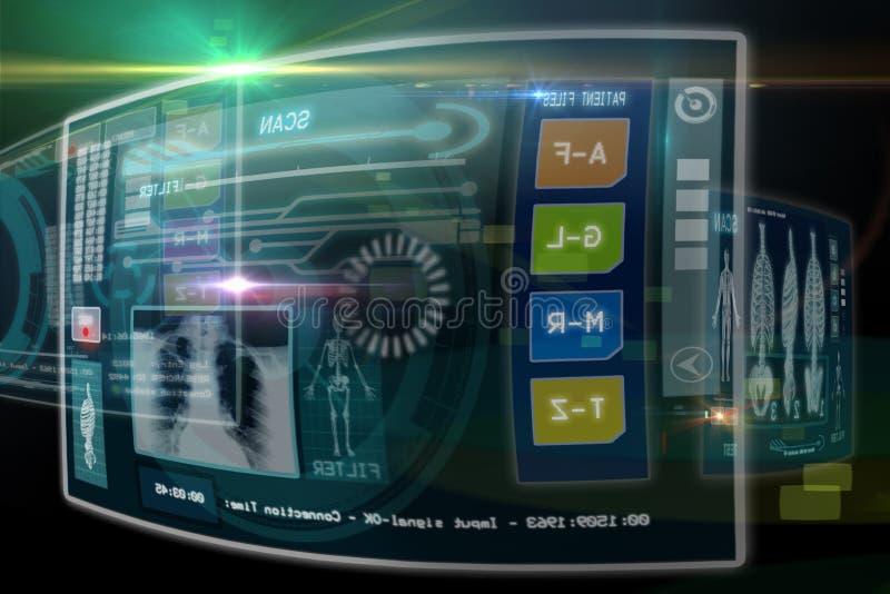 Ιατρικές οθόνες διανυσματική απεικόνιση
