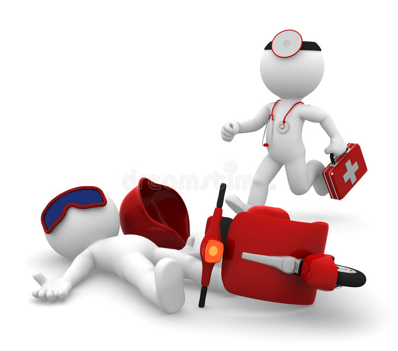 Ιατρικές υπηρεσίες έκτακτης ανάγκης. Απομονωμένος ελεύθερη απεικόνιση δικαιώματος