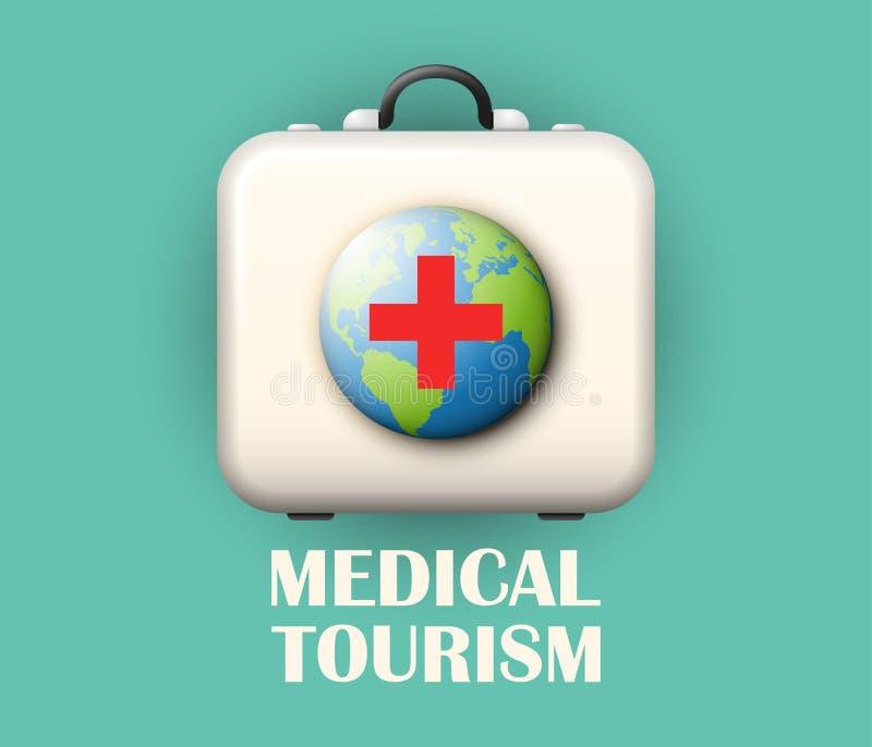 Ιατρική έννοια τουρισμού διανυσματική απεικόνιση