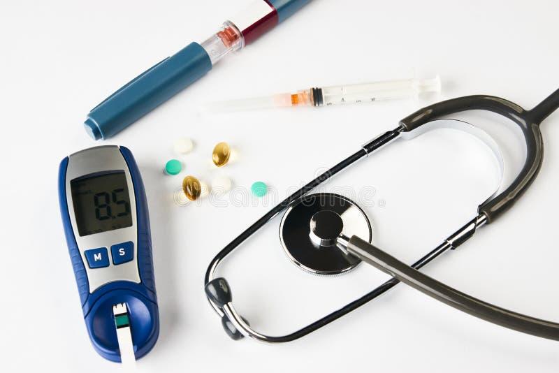 Ιατρική, διαβήτης, glycemia, έννοια υγειονομικής περίθαλψης στοκ εικόνες με δικαίωμα ελεύθερης χρήσης