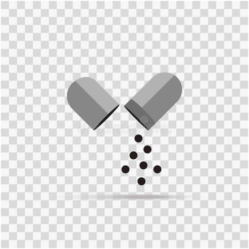 Ιατρική καψών εικονιδίων στο υπόβαθρο διανυσματική απεικόνιση