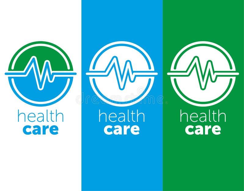 Ιατρική λογότυπων υγειονομική περίθαλψη λογότυπων για το ιατρικό κέντρο r μπλε εικονίδιο χρώματος απεικόνιση αποθεμάτων