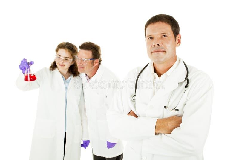 ιατρική ομάδα ηγετών στοκ φωτογραφία