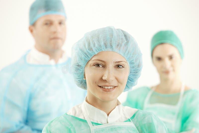 Ιατρική ομάδα σε ομοιόμορφο στοκ φωτογραφία με δικαίωμα ελεύθερης χρήσης