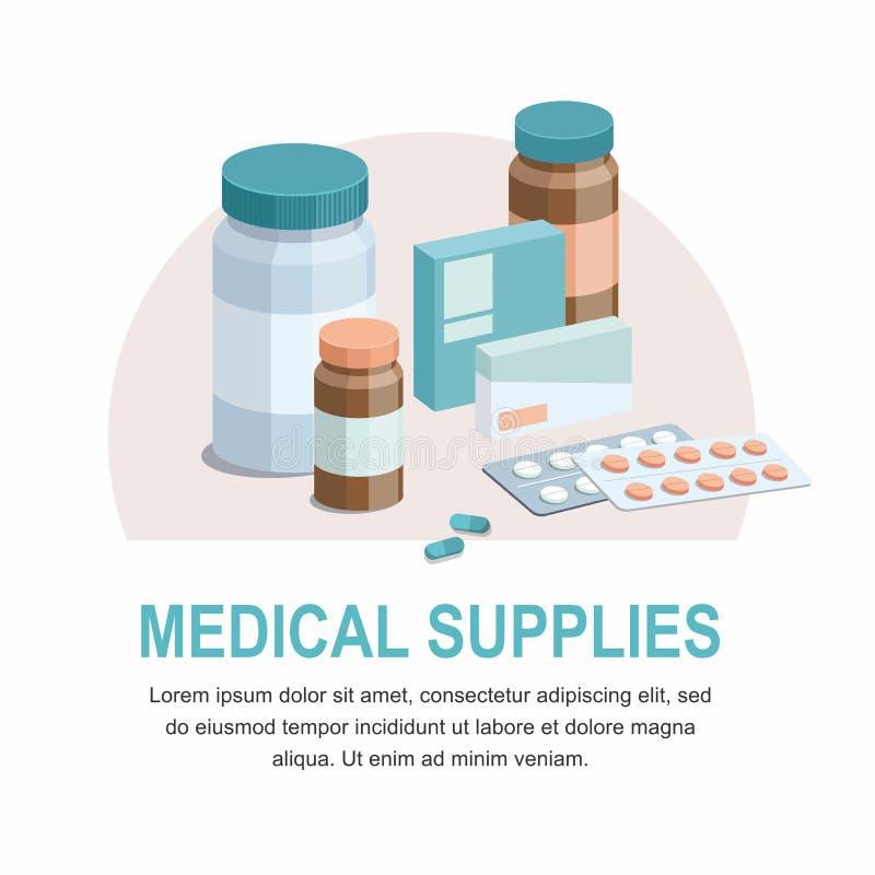 Ιατρική προετοιμασία, ιατρικό drugmedical προϊόν τρισδιάστατο εικονίδιο ελεύθερη απεικόνιση δικαιώματος