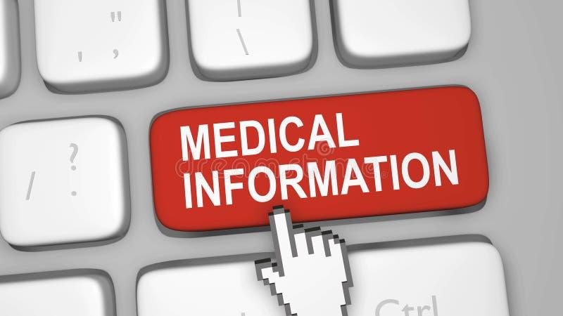 Ιατρική σε απευθείας σύνδεση έννοια πληροφοριών στοκ φωτογραφία με δικαίωμα ελεύθερης χρήσης