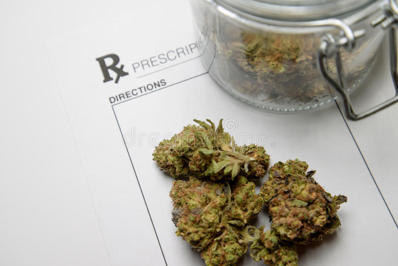 Ιατρική συνταγή μαριχουάνα στοκ φωτογραφία με δικαίωμα ελεύθερης χρήσης