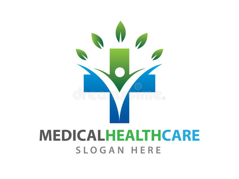 Ιατρική υγείας wellness απεικόνιση λογότυπων κλινικών διανυσματική διανυσματική απεικόνιση