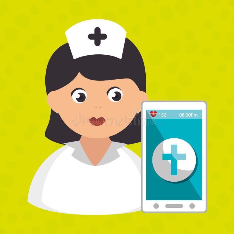 ιατρική υπηρεσία στηθοσκοπίων νοσοκόμων απεικόνιση αποθεμάτων