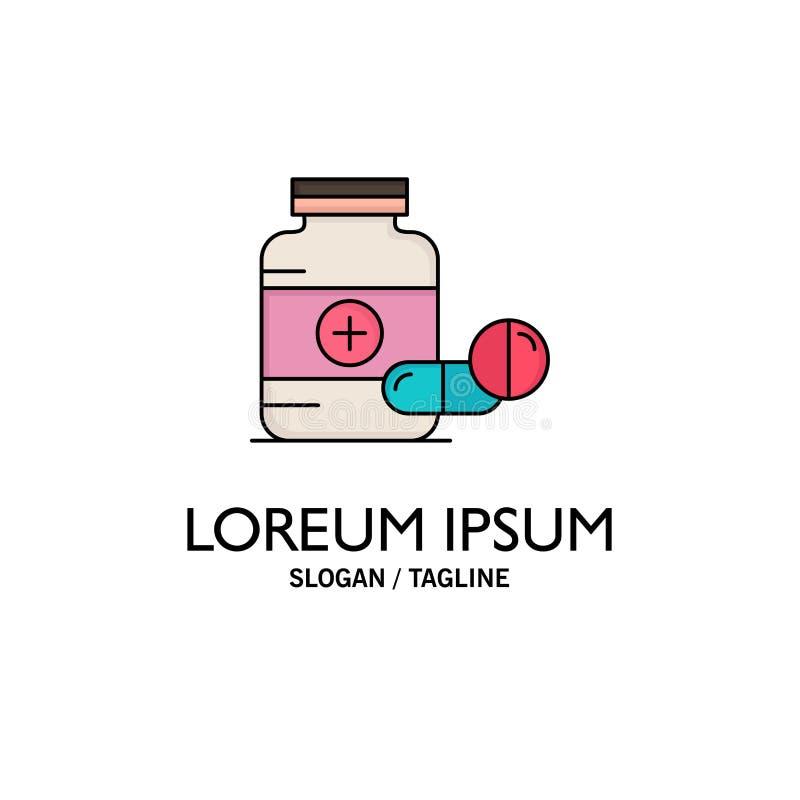 ιατρική, χάπι, κάψα, φάρμακα, επίπεδο διάνυσμα εικονιδίων χρώματος ταμπλετών διανυσματική απεικόνιση